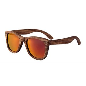 df2e54a62 Zebra Wood Sunglasses - Red Mirror Polarized Lenses - Zebra Wood Frames -  SGL-SUN-W3012M5 - IdeaStage Promotional Products