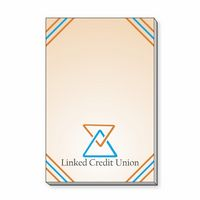 "2"" x 3"" Sticky Rectangular Notepads with 25 Sheets"
