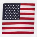100% Cotton Usa Flag Bandanna 22x22
