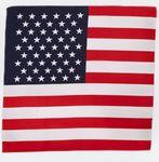 100% Micro Polyester USA Flag Bandanna (22
