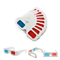 Red & Blue White Cardboard Glasses