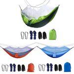 Custom Outdoor Portable Double Hammock w/ Mosquito Net