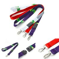 Polyester Dye Sublimated Lanyard With Buckle