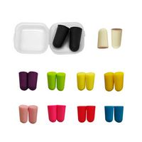 Bullet Shape PU Form Earplugs With Clear Case