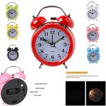Custom Double Bell Classic Alarm Clock with Light