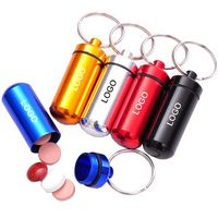 Convenient Pill Bottles With Keyring