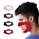 Custom Reusable Mouth Visible Protective Clear Face Mask