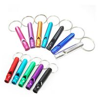 Colorful Aluminum Whistle Keychain