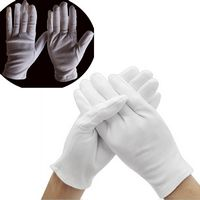 White Soft Cotton Work Glove