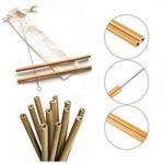 Custom Set of 1 Bamboo Drinking Straws - Reusable & Organic