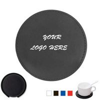 Round PU Leather Coaster