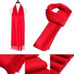 Custom Red Fleece Scarf