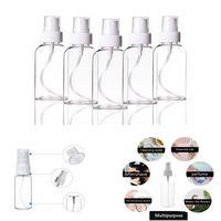 50ml Empty Plastic Spray Bottles Mini Clear Plastic Spray Bottle