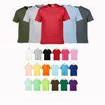 Round Neck Solid Color Cotton Shirt
