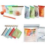 Custom 1000ml Reusable Silicone Food Freezer/Storage Bag