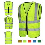 Custom Reflective Neon Safety Vest