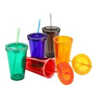 16oz Tumbler w/ Lid & Straw