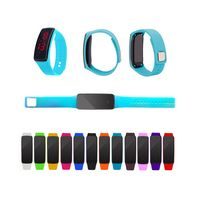 Digital LED Wrist Watch In Silicone Strap