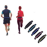 Spandex Sport Fanny Pack With Reflective Strip