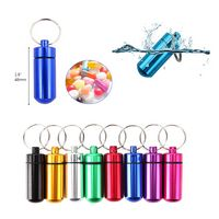 Aluminum Alloy Portable Pill Bottle With Keyring
