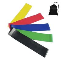 Latex Stretch Yoga Strap Band Set with Pouch
