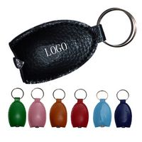 PU Leather Flashlight Keychain