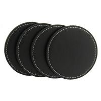 Debossed PU Leather Coaster