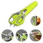 Custom Multi-funcational Kitchen Scissors w/ Magnetic Sheath