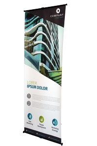L banner stand graphic package 2x5.33