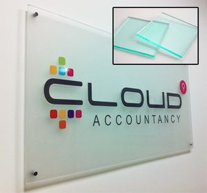 ACRYLIC SIGNS Thickness 1/8 White (1 X 1)