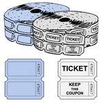 Custom Standard Double Roll Tickets (2000 per roll)