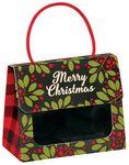 Custom Christmas Plaid Small Gourmet Window Gift Tote