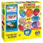 Custom Creativity for Kids Hide & Seek Rock Painting Kit