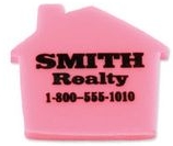 Custom Printed House Shaped Erasers