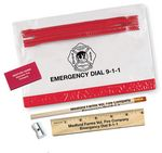 Custom Thrifty School Kit w/Pencil,Ruler,Eraser & Sharpener in Vinyl Pouch