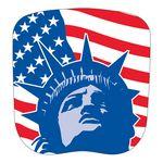 Custom Patriotic Stock Lady Liberty Hand Held Fan
