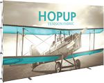 Custom Hopup 13ft Full Height Straight Display & Front Graphic