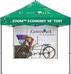 Custom 10' Zoom Outdoor Economy Tent Custom Printed Double-sided Full Wall Graphic