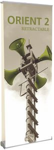 Orient 800 Silver Double-Sided Retractable Banner Stand