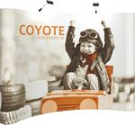 Custom 10' Wide Coyote Popup Curved Display Kit