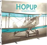 Custom Hopup 10ft. Full Height Straight Display & Front Graphic