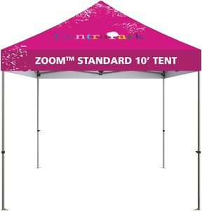 10 Zoom Outdoor Tent with Custom Printed Canopy