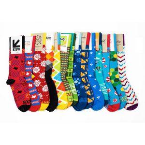 Crew Length Cotton Custom Socks