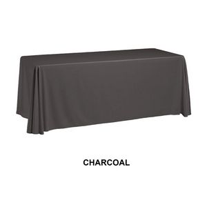 8 3 Sided Table Cover Throw Charcoal Custom Digital Sublimation 00880 Ideastage Promotional Products