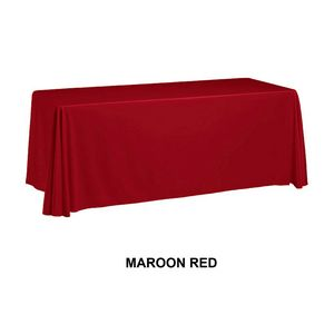 8 3 Sided Table Cover Throw Maroon Red Custom Digital Sublimation 00880 Maroonred Ideastage Promotional Products