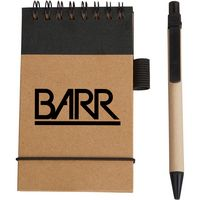 Eco Pocket Jotter w/Eco Paper Barrel Pen