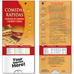 Custom Pocket Slider - Fast Foods Carbs, Calories, and Fat (Spanish)