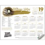 Custom Adhesive Wall Calendar - 2019 Be Money Wise (Financial)