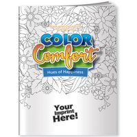Color Comfort Coloring Book - Hues of Happiness (Flowers)