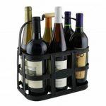 Six-Bottle Metal Wine Caddy